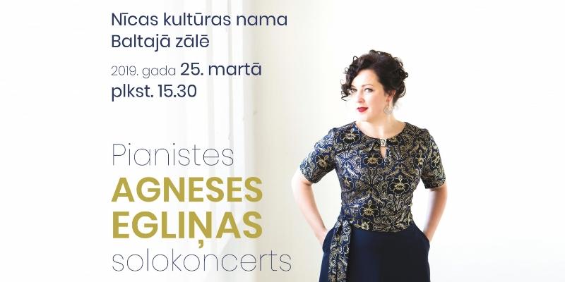 Pianiste Agnese Egliņa ar solo koncertprogrammu